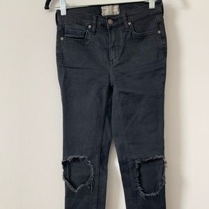 Free People busted knee jeans